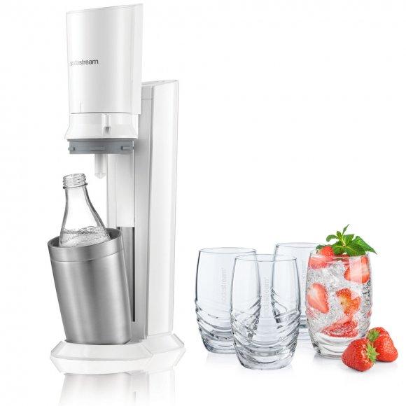 SodaStream Crystal White + 4 ks skleniček 330 ml